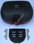 Кофр 2001 черный  пластик на 2 шлема