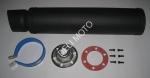 Глушитель (тюнинг) Musstang 420*100mm, креп. 78mm  (нержавейка,