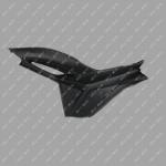 Пластик левый щиток MUSSTANG JAVA 200/250 (MUS)