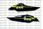 """Пластик """"задняя панель сиденья Л+П""""  VIPER V200-R2 (Original Mod"""
