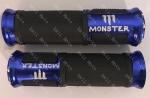 Ручки руля MONSTER пара алюминиевый отбойник (Синий)