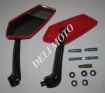 Зеркала KOSO многоугольные mod:201, 8/10mm (красные)