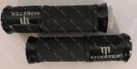 Ручки руля MONSTER  пара алюминиевый отбойник (Черный)