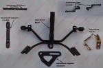 Крепление (разные) SPIKE ZZ CBR250RR-II
